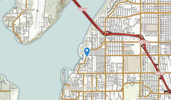 trail locations for Titlow Beach Park