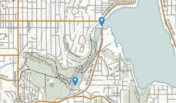 trail locations for Whatcom Falls Park