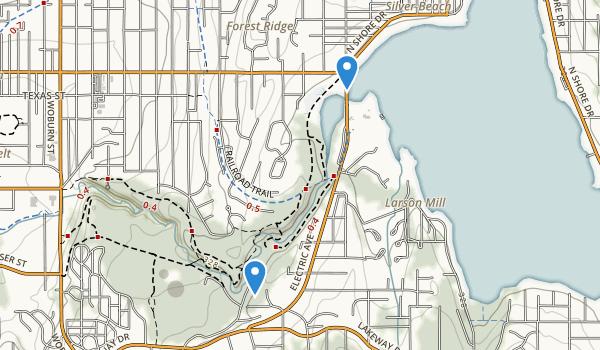 Whatcom Falls Park Map