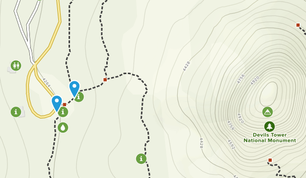 Devils Tower Map on