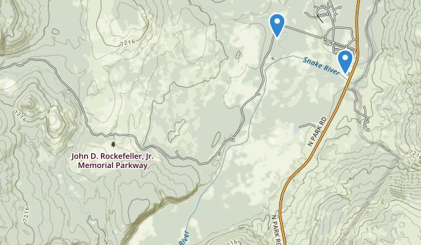trail locations for John D Rockefeller Junior Memorial Parkway