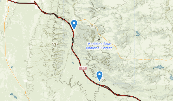Wallis Recreation Area Map
