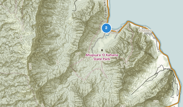 trail locations for Kahana Valley State Park