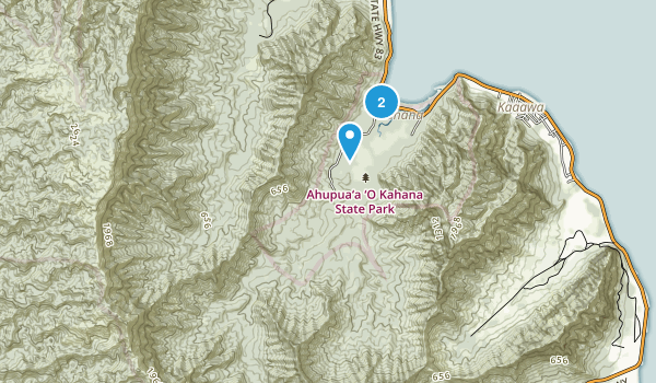 Kahana Valley State Park Map