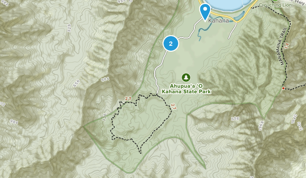 Kahana Valley State Park Map