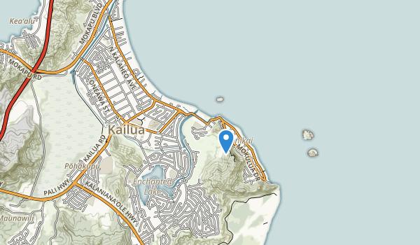 trail locations for Kailua Beach Park