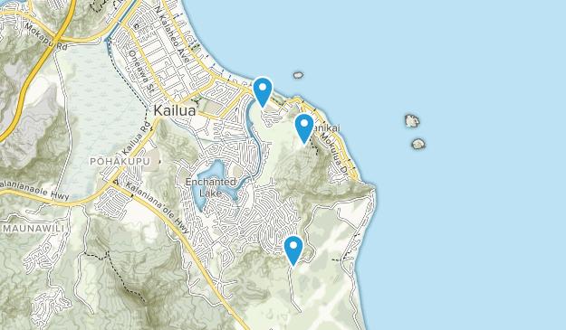 Kailua Beach Park Map