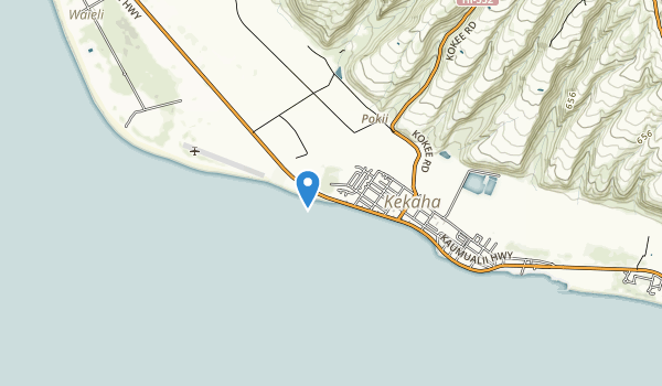trail locations for Kekaha Beach Park
