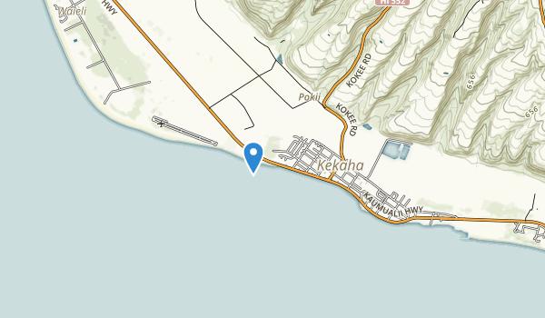 Kekaha Beach Park Map