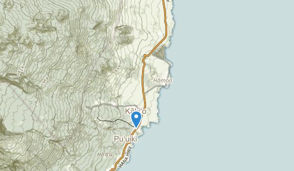 trail locations for Kōkī Beach Park