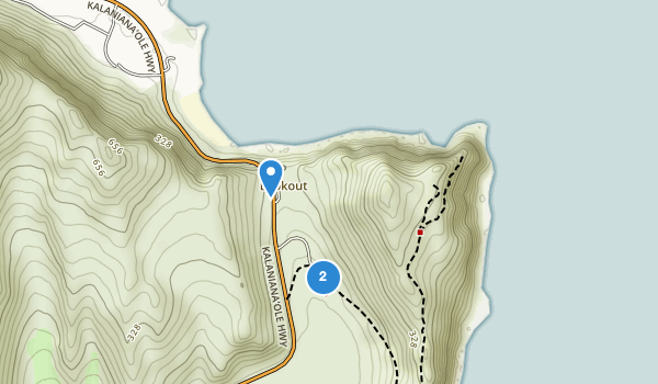 trail locations for Makapu'u Point State Wayside