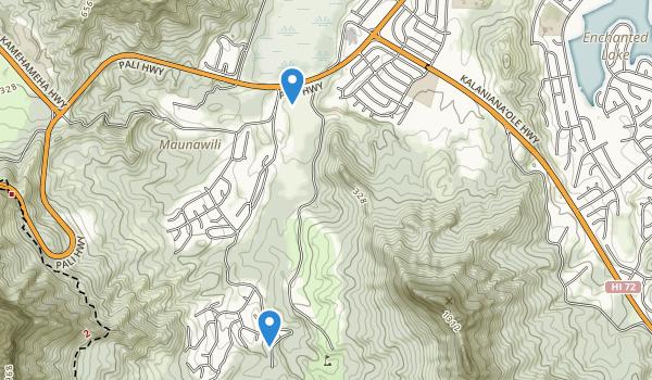 trail locations for Maunawili Playground