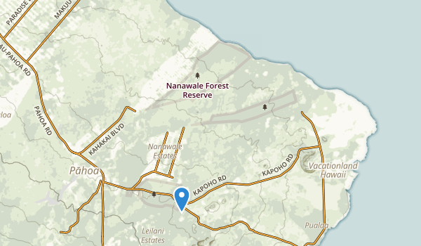 trail locations for Nanawale Park