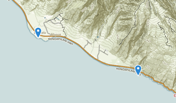 trail locations for Pāpalaua State Wayside Park