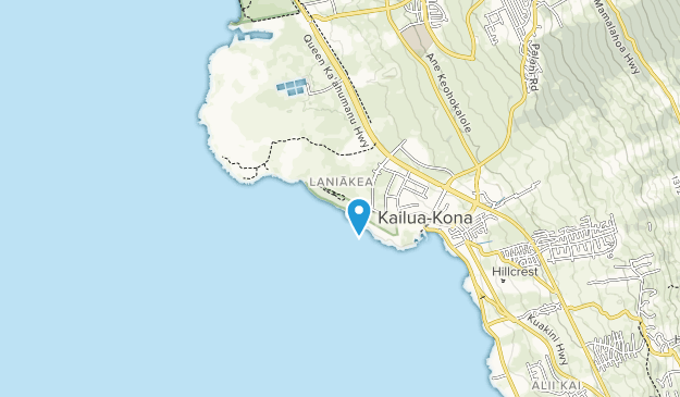 Old Kona Airport State Recreation Area Map