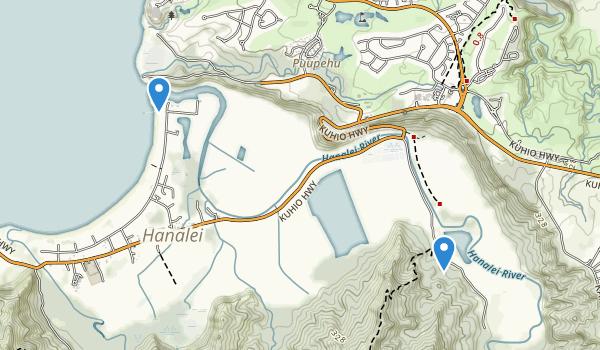 Hanalei National Wildlife Refuge Map