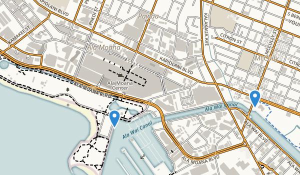 trail locations for Ala Moana Park