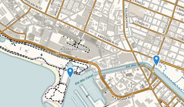 Ala Moana Park Map