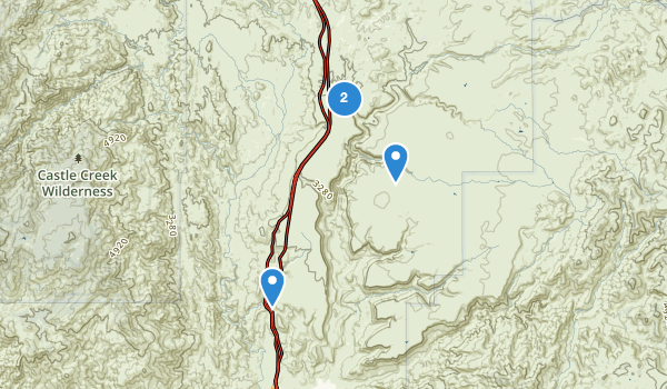trail locations for Agua Fria National Monument