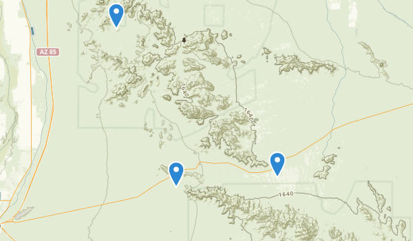 trail locations for Sonoran Desert National Monument