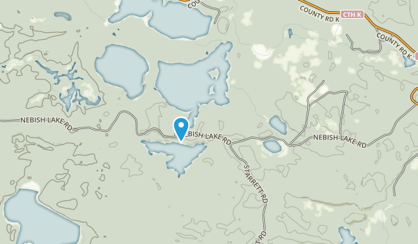 Escanaba Lake Hemlocks State Natural Area Map