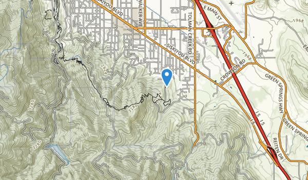 trail locations for Siskiyou Mountain Park