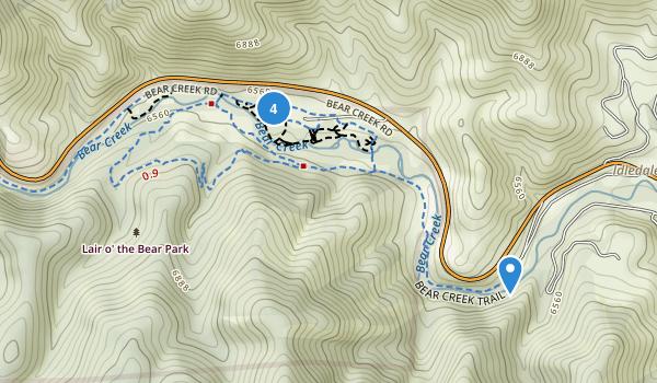 Lair o' the Bear Park Map