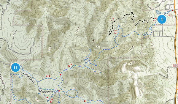 Mount Falcon Park Map