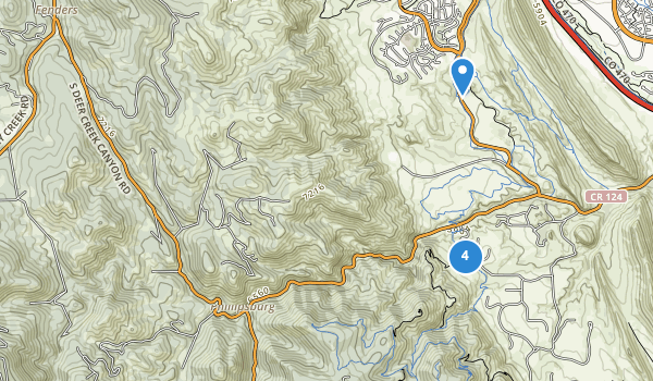 trail locations for Deer Creek Canyon Park