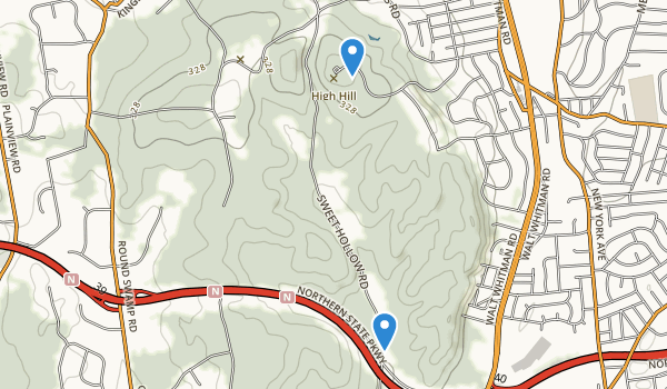 trail locations for West Hills County Park