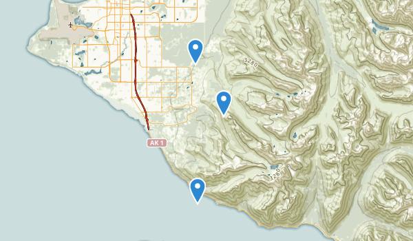 trail locations for Far North Bicentennial Park