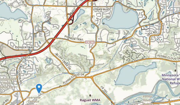 trail locations for Riley Lake Park