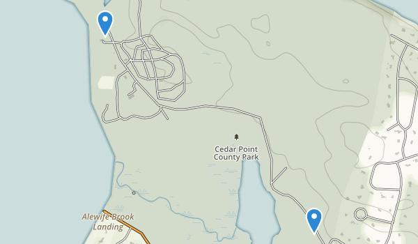 Cedar Point County Park Map