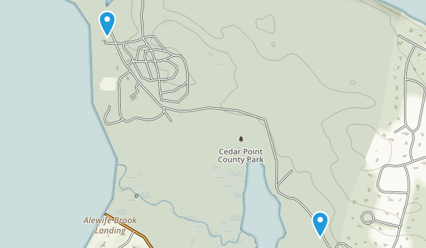 Cedar Point County Park Map