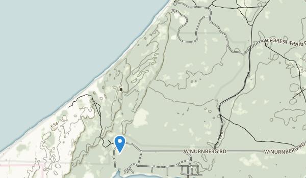 trail locations for Lake Michigan Recreation Area