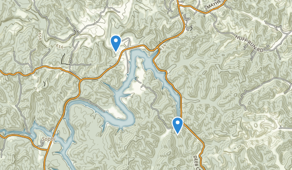 Grayson Game Refuge Area Map