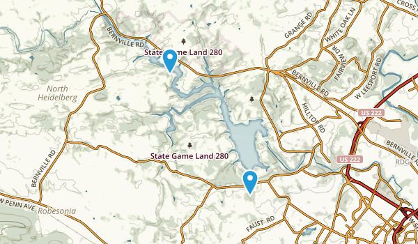 Blue Marsh Lake National Recreation Area Map