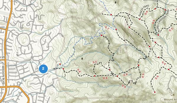 trail locations for Mission Peak Regional Preserve