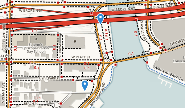 trail locations for AIDS Memorial Park