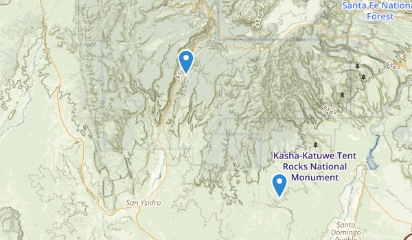 trail locations for Jemez National Recreation Area