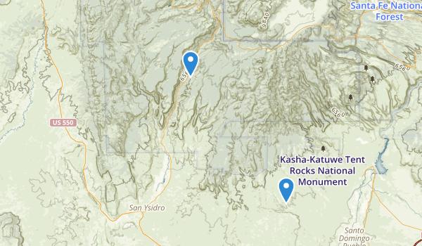 Jemez National Recreation Area Map