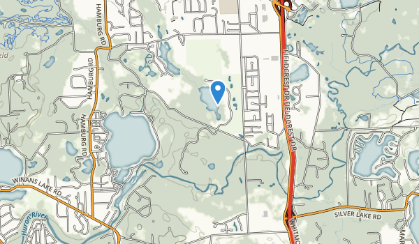 trail locations for Huron Meadows Metropark