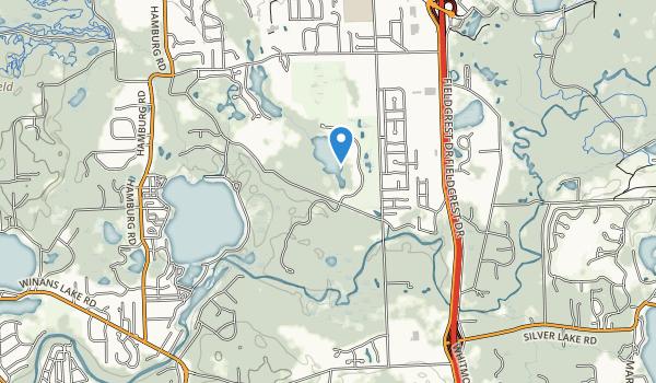 Huron Meadows Metropark Map