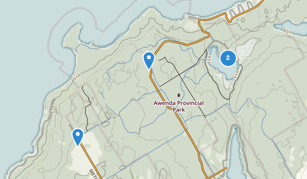 trail locations for Awenda Provincial Park