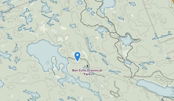 trail locations for Bon Echo Provincial Park