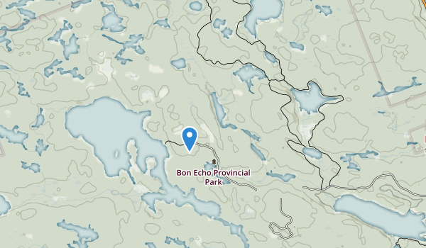 trail locations for Bon Echo Provincial Park
