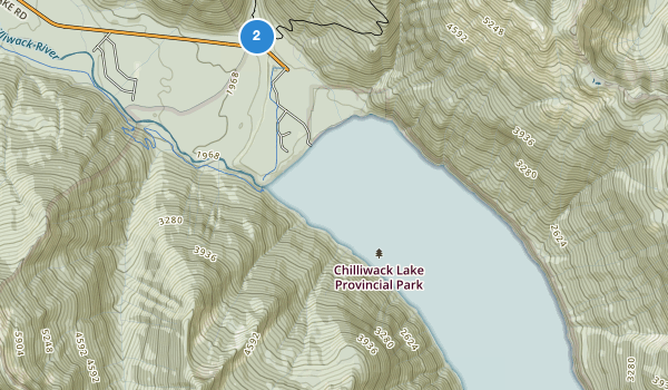 trail locations for Chilliwack Lake Park
