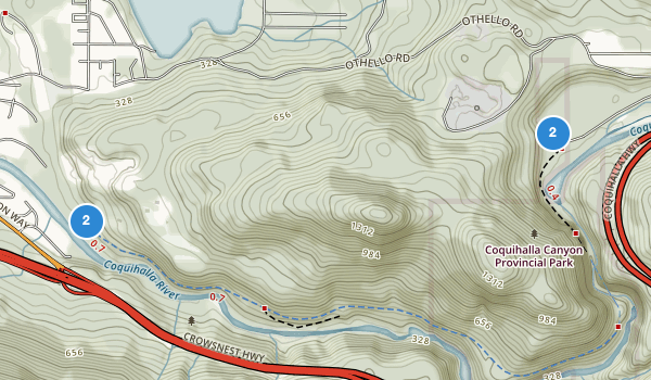Coquihalla Canyon Park Map