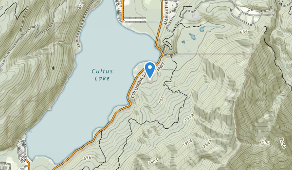 trail locations for Cultus Lake Park