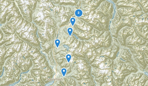 trail locations for Garibaldi Park